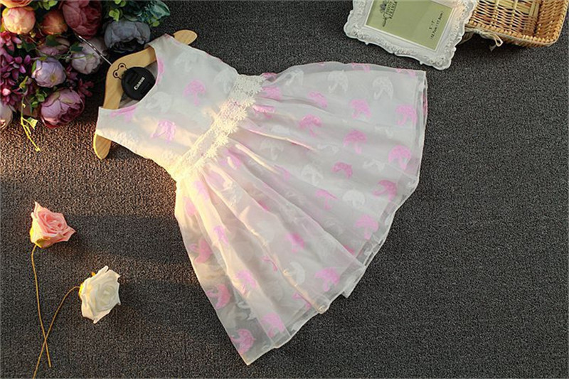 CX 2016 Summer bird pattern cotton baby dress sleeveless knee-length chiffon wedding princess bow gwon frock vestido  -  HOT HOUSE store