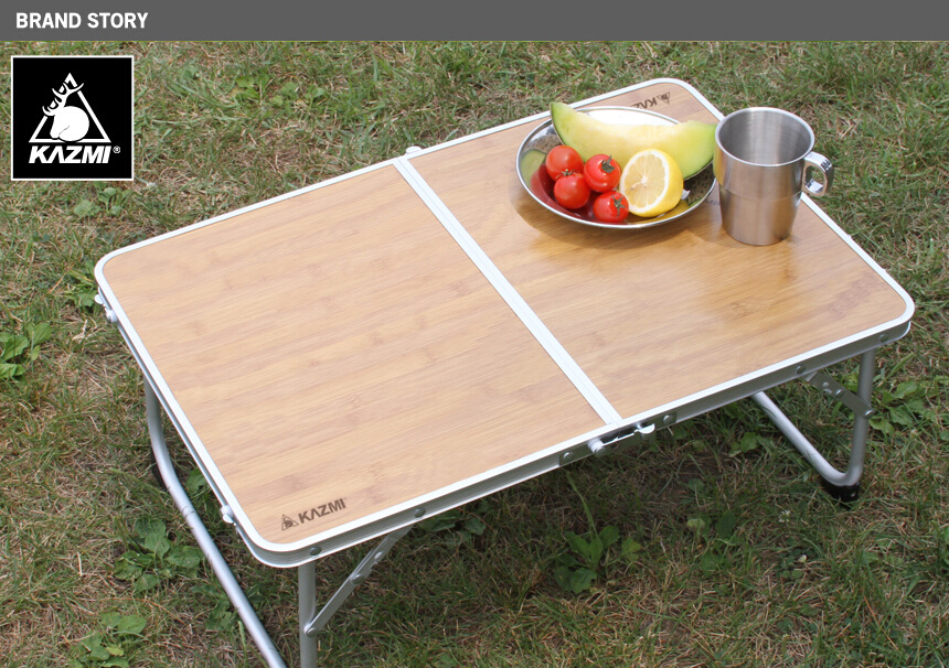 Portable Easy Folding Table Desk Outdoor Picnic Wood