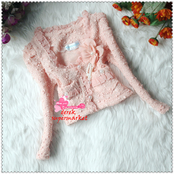 Free Shipping! Baby Clothes Set Fashion Girl Pearl Lace Dress Suit (Coat+T-shirt+Skirts) Kid Garment Wholesale And Retail XM-227(China (Mainland))