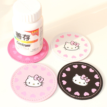 Buy Keythemelife 2PCS Hello kitty Placemat Cup Mat Bar Mug Drink Pads Coaster Kitchen Table Decoration 2C for $1.92 in AliExpress store