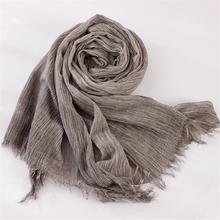 Fold Natural Cotton Scarf Women Men All Match Echarpe Winter Scarf Female Scarves 200cmx 70cm(China (Mainland))