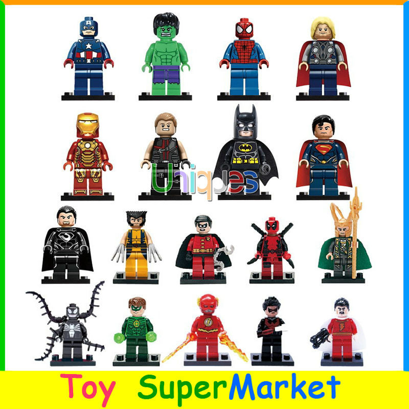 18pcs Marvel Heroes Avengers Flash Venom Green Lantern Minifigures Action Figure Building Toys XINH Decool Compatible with Lego(China (Mainland))
