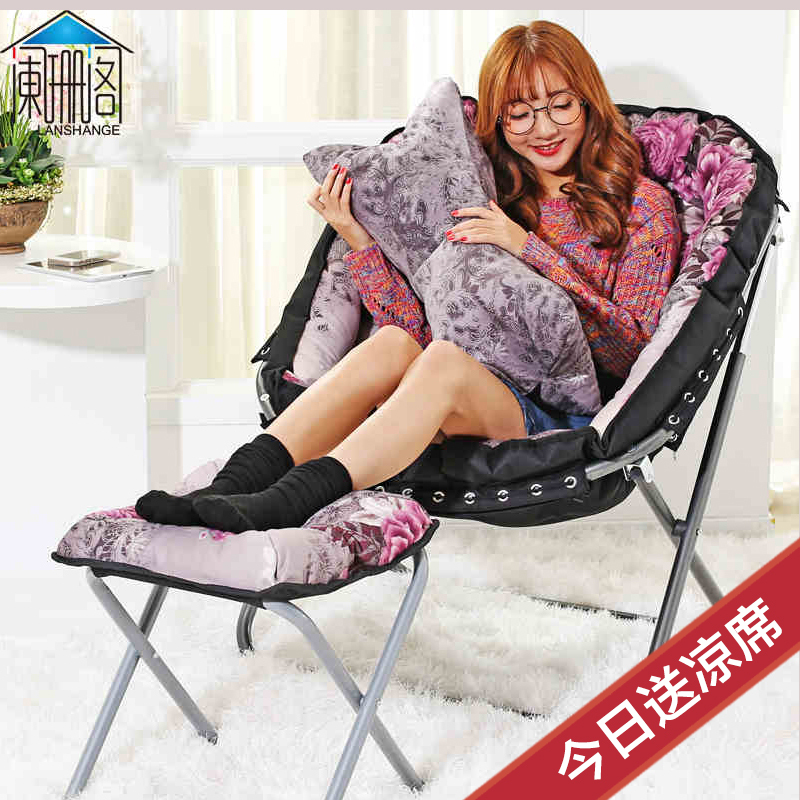 The lazy sofa folding chairs A lazy person recreational chair Single person sofa household creative lunch chairs(China (Mainland))
