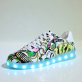 Led shoes for Adults Unisex 2017 Fashion USB Rechargeable couple Luminous Shoes men Tenis LED Glow