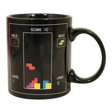 IMC Wholesale NEW Tetris Pattern Magical Heat Sensitive Color Change Water Milk Mug Coffee Cup