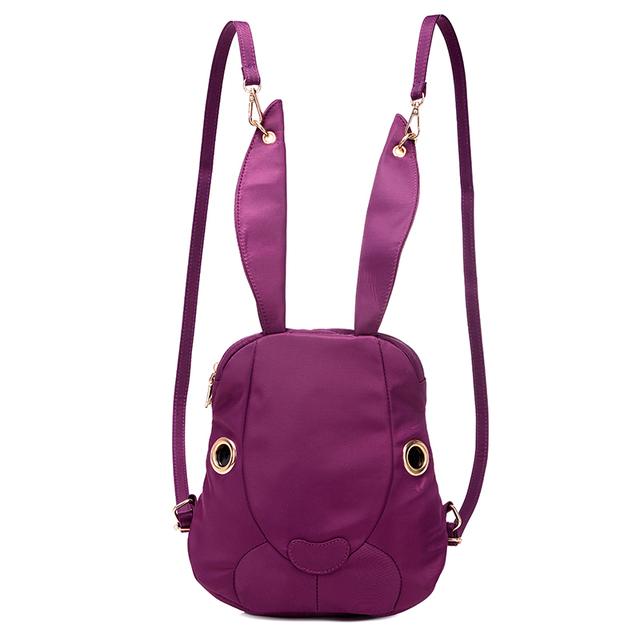 Сплошной цвет мешок 2016 новый милый супер Кролик рюкзак дети девушки нейлон маленькая ...