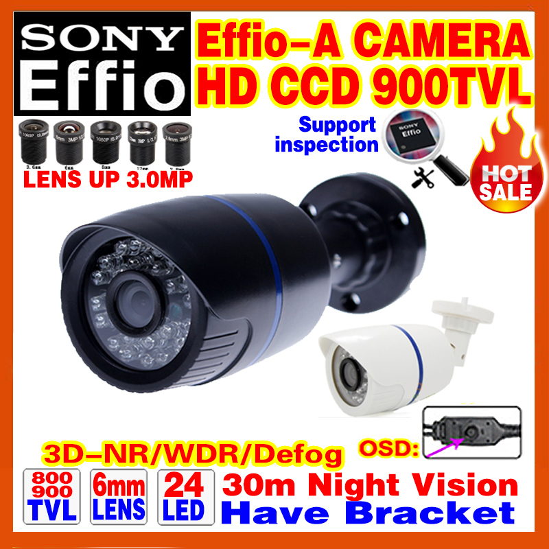 """Big Sale!1/3""""Sony CCD 900TVL Effio Security Surveillance Cctv Camera Outdoor Waterproof IP66 Home Infrared Video have Bracket(China (Mainland))"""