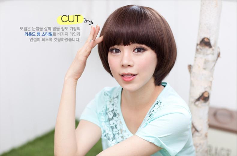 New Popular Heat Resistant Hair Lovely Mushroom Head Student Bobo New Korean Short False Hair Cosplay Wigs(China (Mainland))
