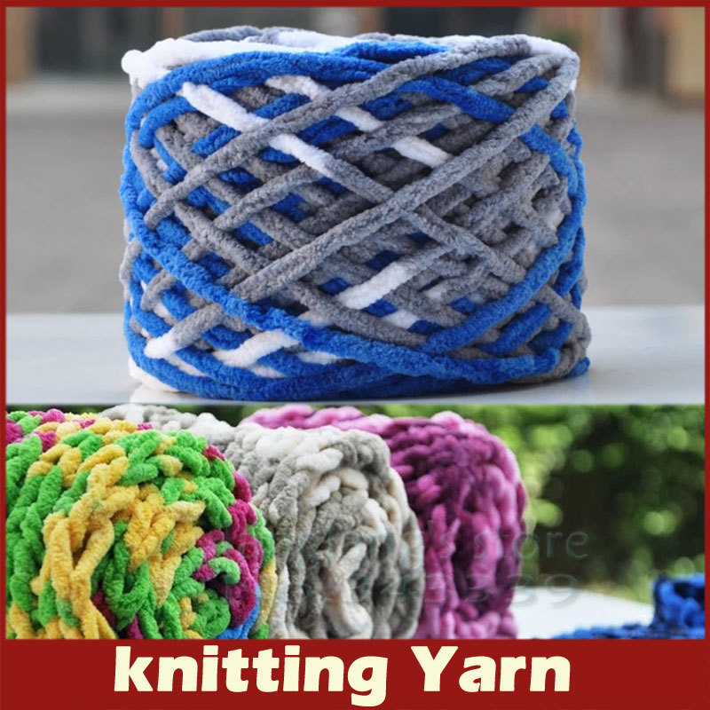 Yarn For Knitting : 110g/pc Cotton Colorful Dye Scarf Hand knitted Yarn For Hand knitting ...