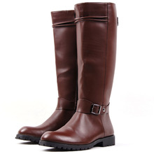 11.11spuer deal Tall Knee-High Leather Warm Men Boots 2016 New Black Pointed Toe Long Boot With Zipper Solid bota masculino(China (Mainland))