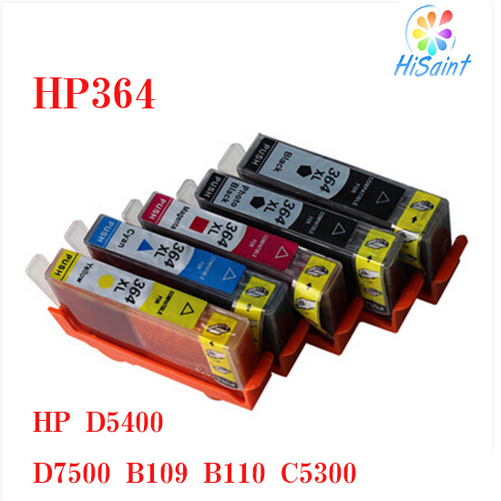 5 x  ink cartridge compatible HP 364 for HP 7510 B8550 C5324 C5380 C6380 D5460<br><br>Aliexpress