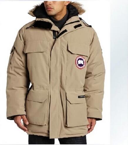 *eWinter ca men's 90% feather Down Jacket,High Quality Warm down,white ,grey,black free shipping Canada down jacket yg(China (Mainland))