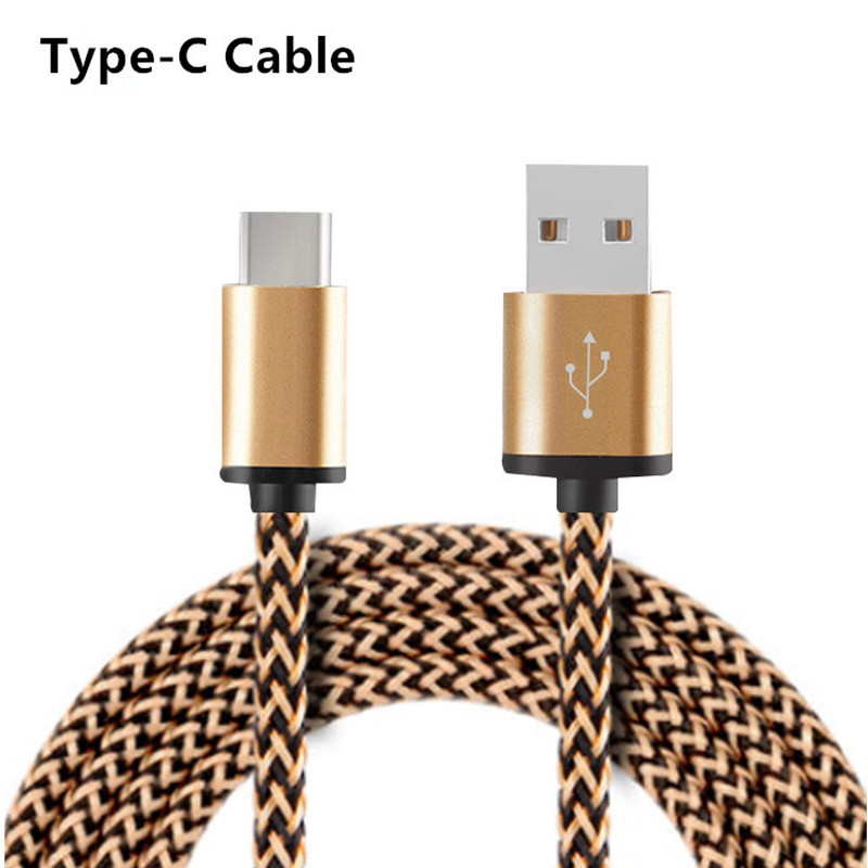 Nylon Braided USB 3.1 Type-C Data Sync Charger Type C Cable Xiaomi 5 5c Huawei P9 P10 Plus Mate 9 Oneplus 3 3T LG G5 G6  -  Lucien Cao's store store
