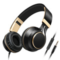 Sound Intone I58 Headphones PC with Microphone and Volume Control Foldable Bass Headset Stereo Headsets for