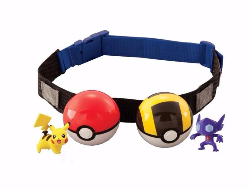 1pc Pokemon Clip N Carry Poke Ball Cross Belt Action Figure Pokemon Pikachu Toy Pokemon Belt Trainer Cosplay Christmas Gift