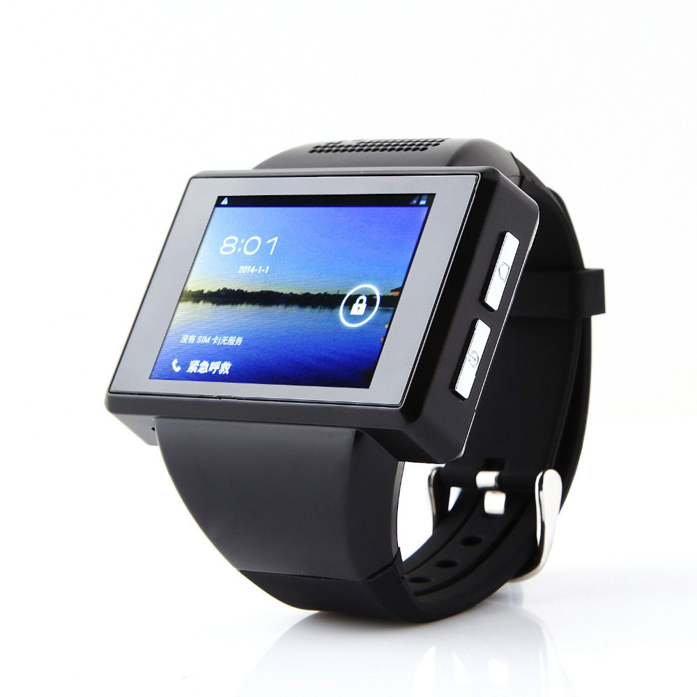Quality android smart watch phone gps wrist capacitive screen mtk6515