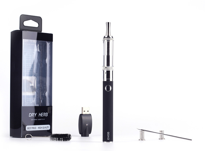 Best Dry Herb Vaporizer Pen Kit Herbal Wax Atomizer 1100mah EVOD MOS Protect System Battery Electronic Cigarette All in One Kits(China (Mainland))