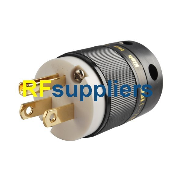 AU Mains Power Plug Male Connector Gold Conductor Cable Cord IEC Hi Fi PPL5A