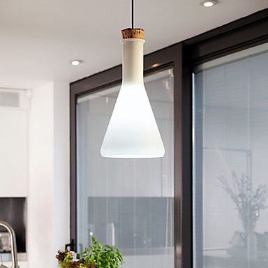 60W Contemporary Pendant Light with Glass Shade in Flask Design For dining room living room,E26/E27,Bulb Included<br><br>Aliexpress