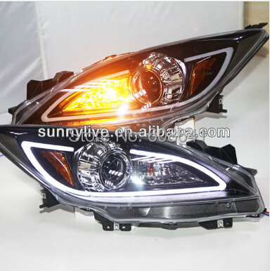 For MAZDA 3 LED Head Lights with Bi Xenon projector Lens 2011 -2013 year(China (Mainland))