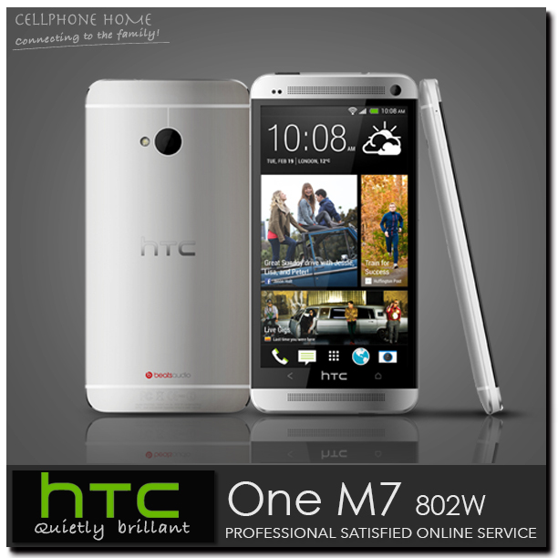 "HTC 802W Unlocked HTC ONE M7 802T Original Smartphone Quad Core 2G-RAM 32GB-ROM 4.7"" Screen 4MP Android 4.4 Dual-Sim Cell phones(China (Mainland))"