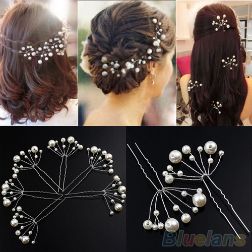 Fashion New Wedding Bridal Bridesmaid Pearls Hair Pins Clips Comb Headband 1OS3 3BLL(China (Mainland))