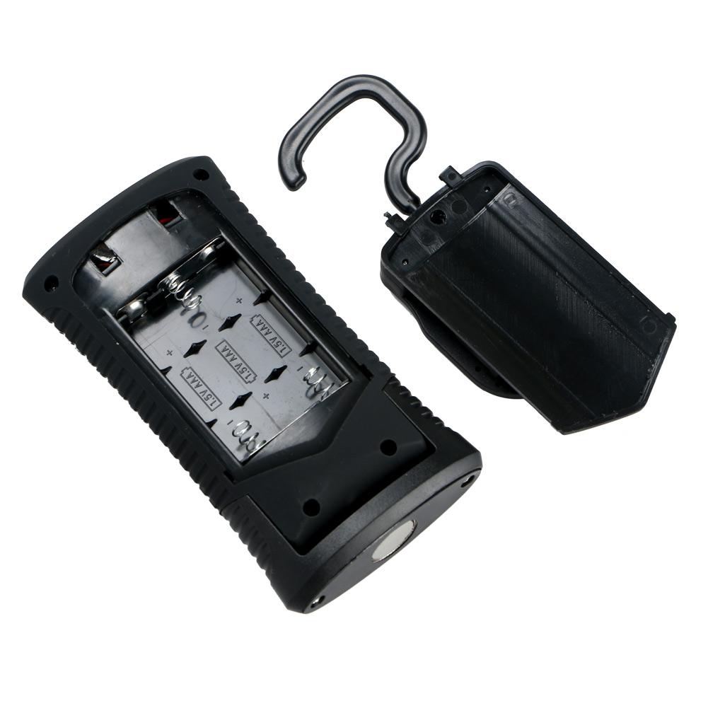 LED Flashlight AAA COB 3W LED + 3 LEDs Working Flashlight Lamp Magnetic Hanging Camping Light With Magnet Camping Folding Hook