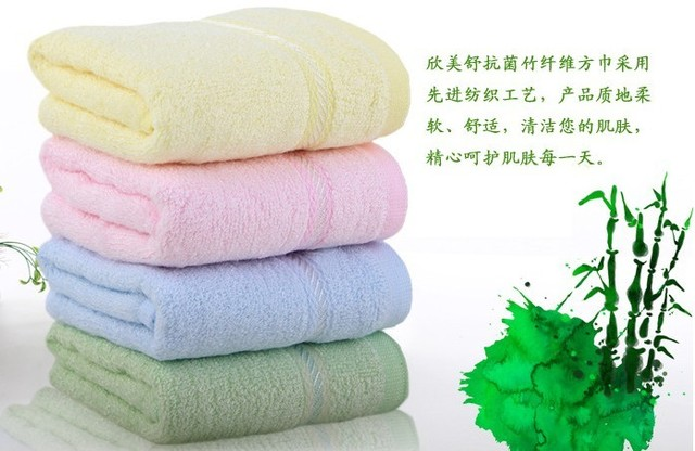 Free shipping,Hot sale 4pcs/lot 28X26cm Bamboo Towel, Bamboo fiber, Natural & Eco-friendly, Solid color, Nice soft 0430-5