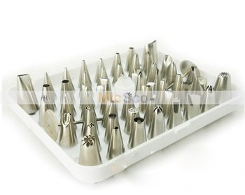 Free Shipping 52 Icing nozzles pastry tips cake decorating sugarcraft cake tools