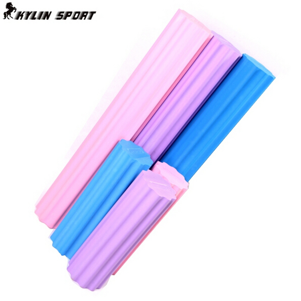 2015 Hot Sale Top Fashion 45cm Foam Roller Plum-shaped Solid Yoga Column Massage To Relax Stretching Fitness Bar(China (Mainland))