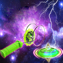 Magnetic Gyro Wheel Magic Spinning Top Laser Led Gyro Colorful Plastic ABS Light Toy Kids Baby Flashing Spinning Top(China (Mainland))