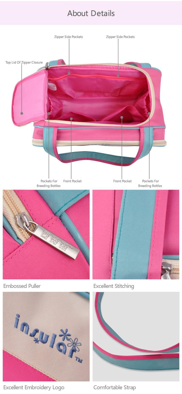 2015 новый! Детские подгузники сумки / мать сумка / детские пеленки мешок / многофункциональный большой емкости / сумки / полоса стиль / розничная торговля 1