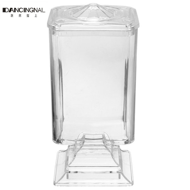 Pro Fashion Nail Art Makeup Wipe Holder Case Container Acrylic Plastic Bos For Polish Remover Cotton Pad Paper Free Shipping