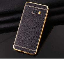 Buy Luxury Fundas Samsung Galaxy C7 Case Back Cover TPU soft Silicone Mobile Phone Cases Samsung C7 C7000 PU Leather cover for $2.50 in AliExpress store