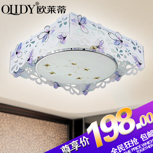 Fashion modern carving butterfly flower led ceiling light bedroom lamps living room lights lamp child real lighting(China (Mainland))