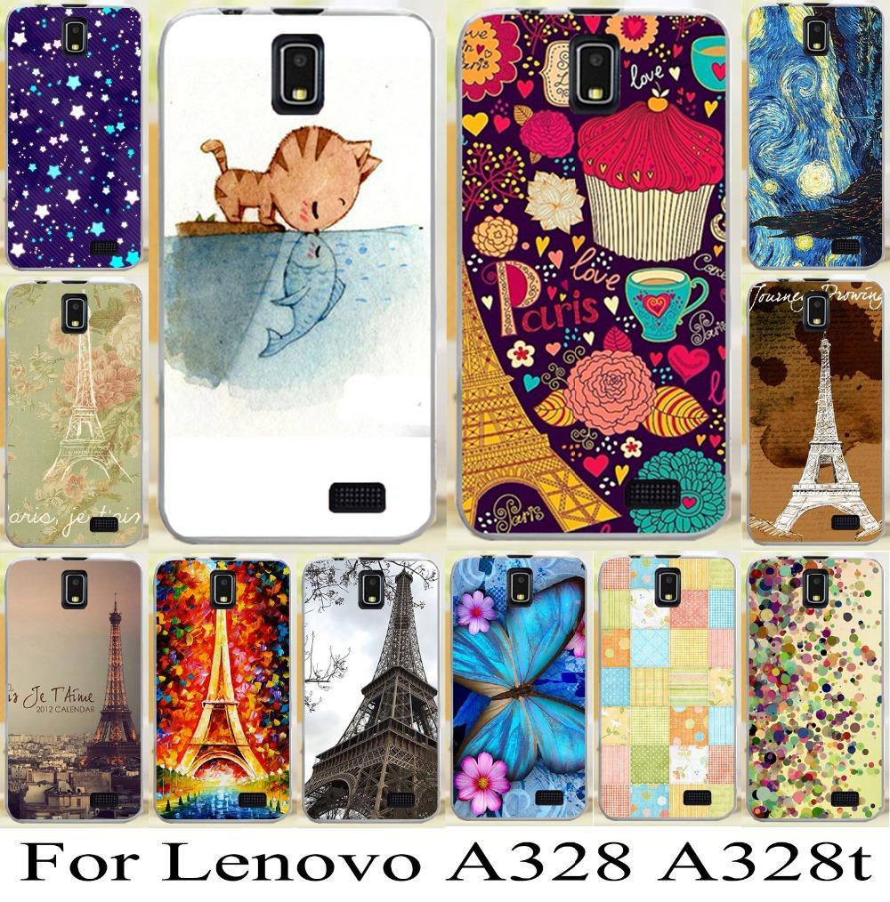 Гаджет  freeshipping hotsale For Lenovo A328 A328T cool skin shell cover case new stylish effiel tower mobile phone case bag hood None Телефоны и Телекоммуникации