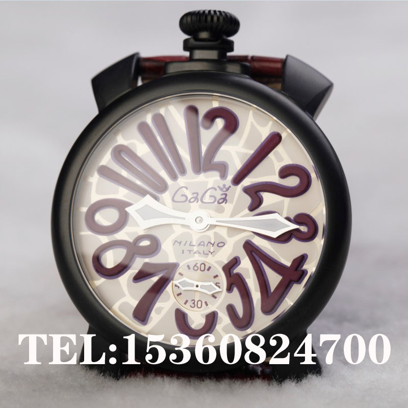 Gaga Deep purple watch trend big dial manual mechanical chain strap 429g 1 - Rabbit Queen hair store