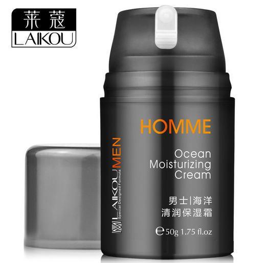 LaiKou Ocean Moisturizing Skin Care Cream for Men, skin care refreshing , lasting oil control, deep nourishment face cream, 50g(China (Mainland))