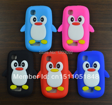 Case for Nokia Asha 200 201, Cute Cartoon Penguin Soft Silicone Case Cell Phone Cover Bag(China (Mainland))