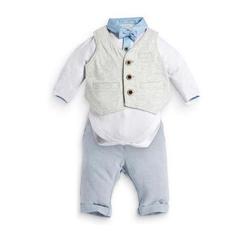 Осень мальчики джентльмен костюмы детские комбинезоны + брюки + жилет комплект британского стиля дети в одежда