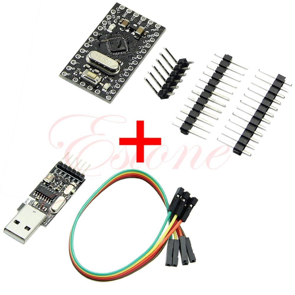 Гаджет  Free Shipping USB2.0 To TTL 6Pin CH340G Converter + Pro Mini Atmega328 5V 16M For Arduino   None Электронные компоненты и материалы
