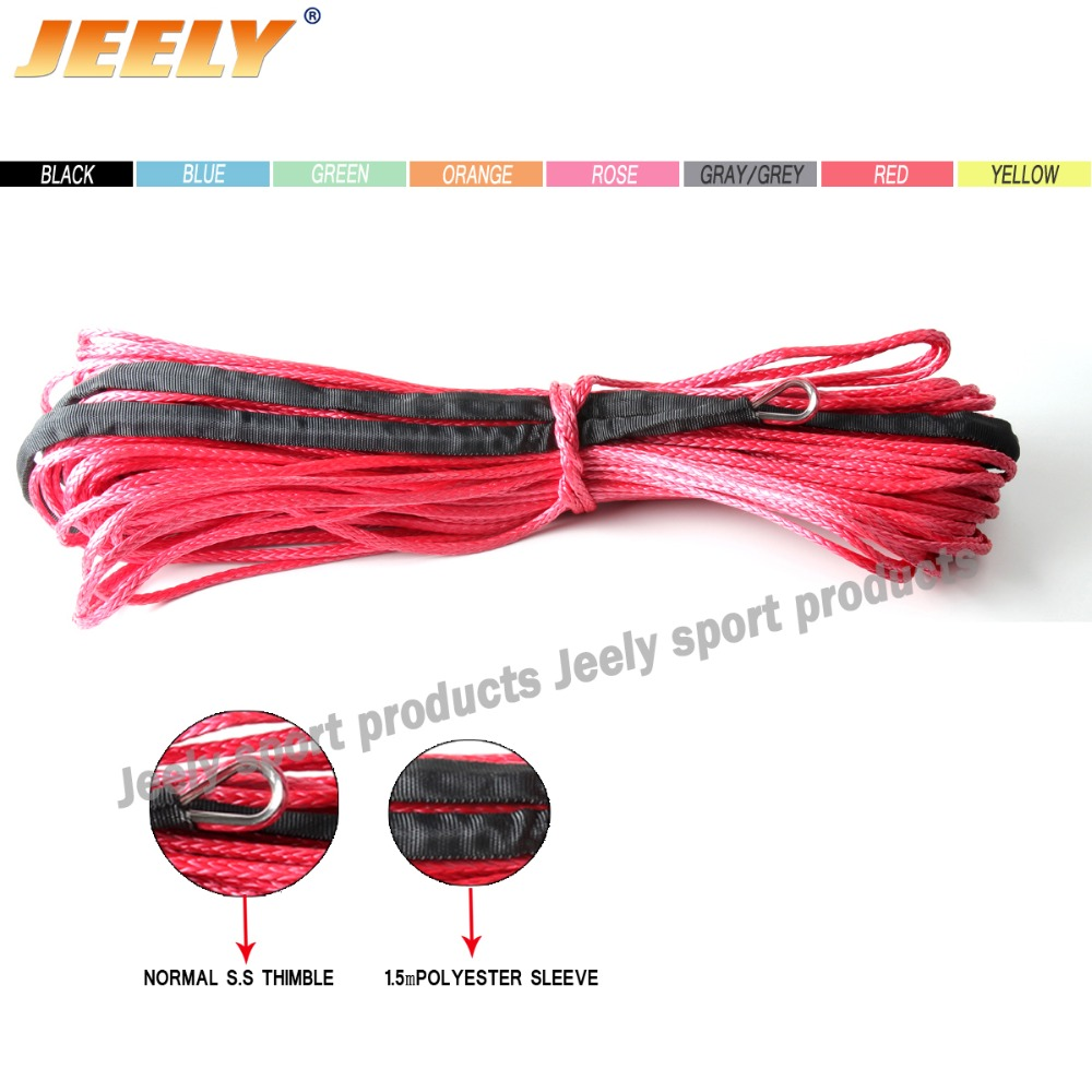 Super Strong 5/8'' x100' UHMWPE Off-road Towing Winch Line 4X4 4WD Synthetic use Free Shipping(China (Mainland))