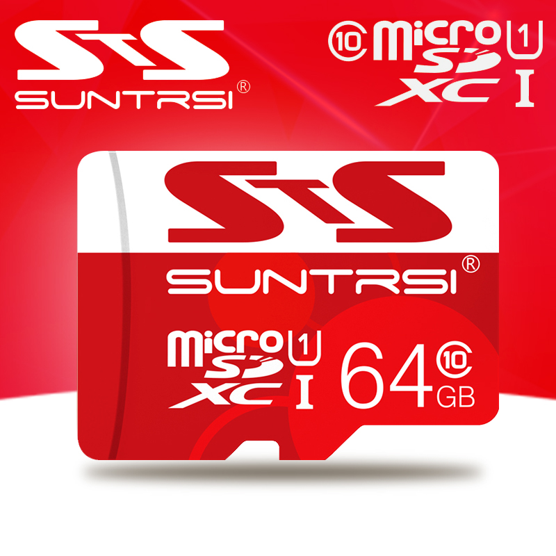 Suntrsi Microsd Card Real Capaity Memory Card High Speed micro sd card 32gb class 10 Microsd 64GB Microsd TF Card Memory(China (Mainland))