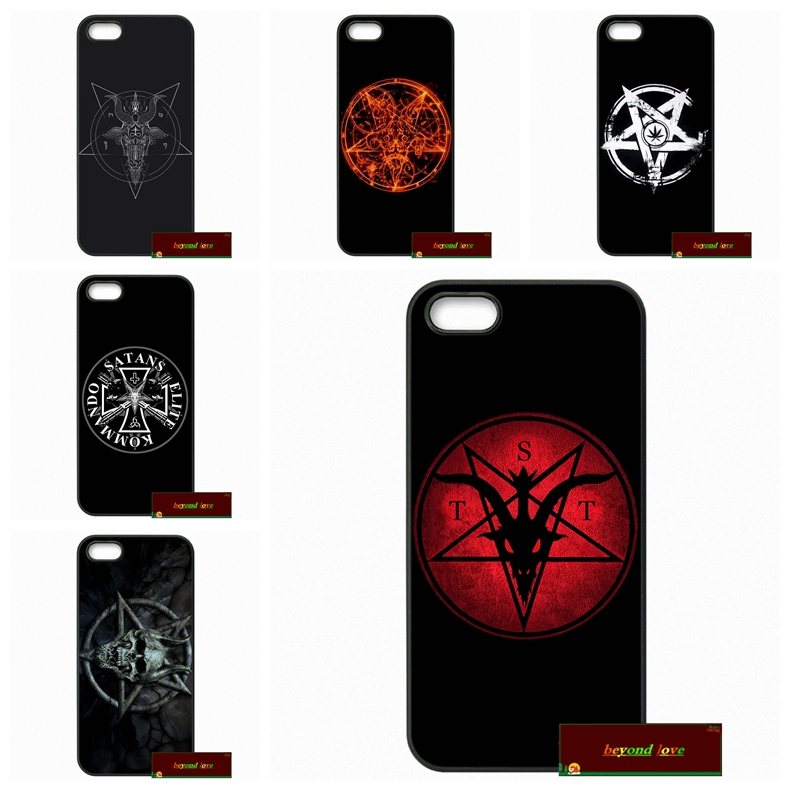 Stunning Greatest Satan Logo Phone Cases Cover For iPhone 4 4S 5 5S 5C SE 6 6S 7 Plus 4.7 5.5 AM1473(China (Mainland))