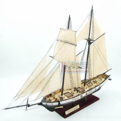 [해외] 1 : 130 스케일 목조 범선 하비 1847 모델 선박 + 황동 업데이..