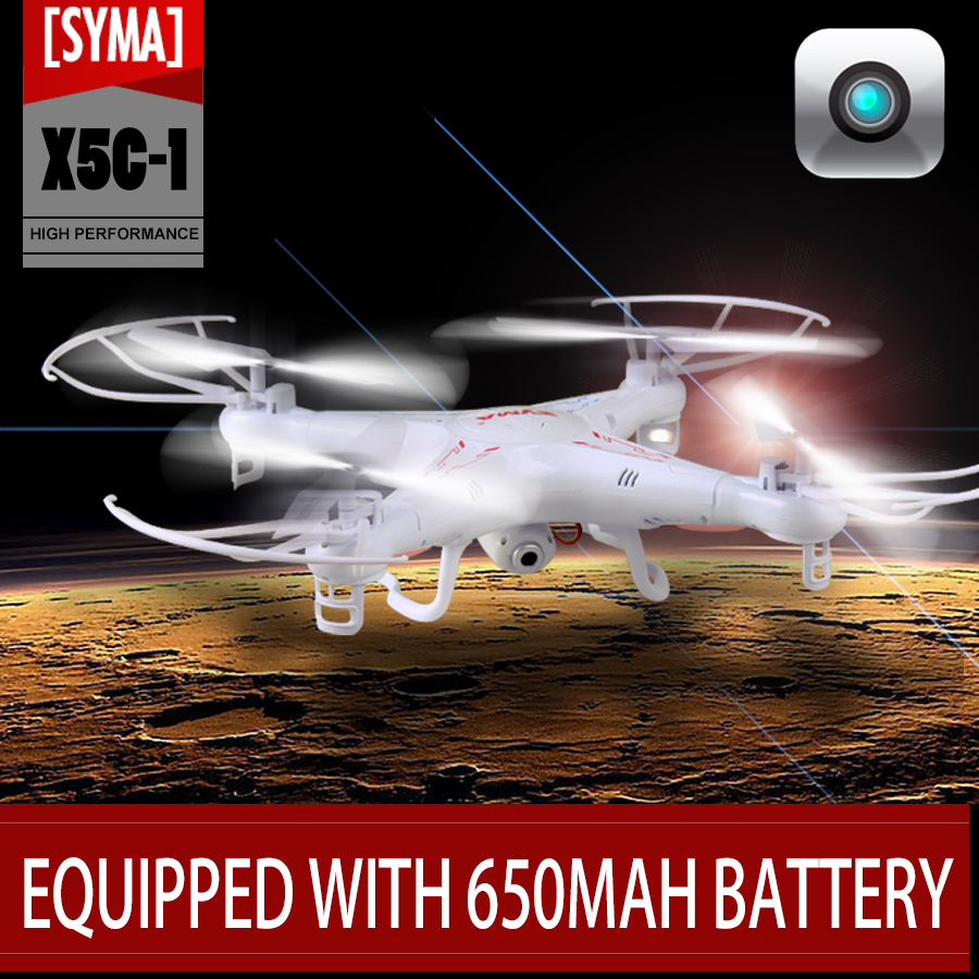 With 3pcs battery Syma X5C Upgraded X5C 1 RC Helicopter aerial machine With 2MP HD Camera