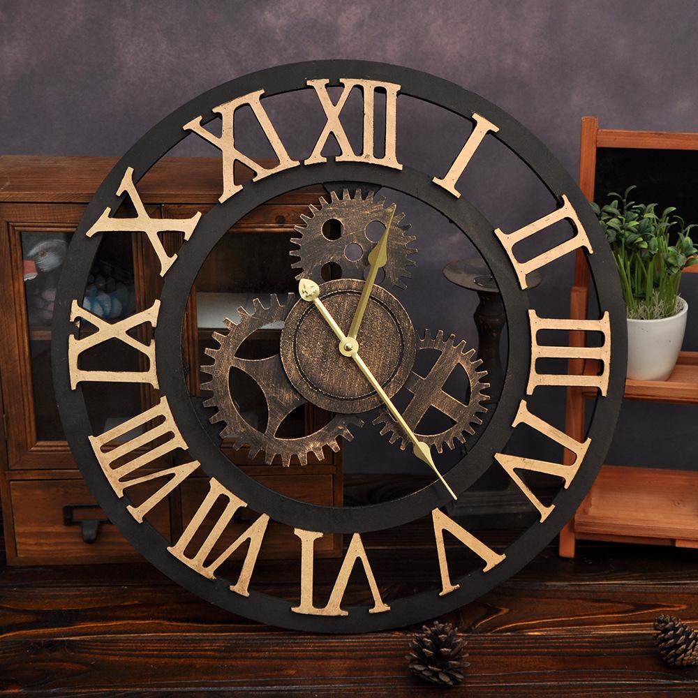 Compra relojes de pared industriales online al por mayor for Reloj pared estilo industrial