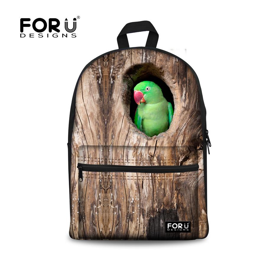 FORUDESIGNS Vintage Backpacks School Students Brand Animal Design Bagpack Bag Men Women Casual Canvas Back Pack Sac Dos