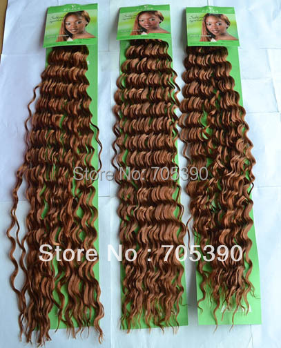 Factory on sale synthetic fiber hair beauty hair MANGO curly braids hair 18inch 4 colors 5packs/lot best quality Free Shipping(China (Mainland))