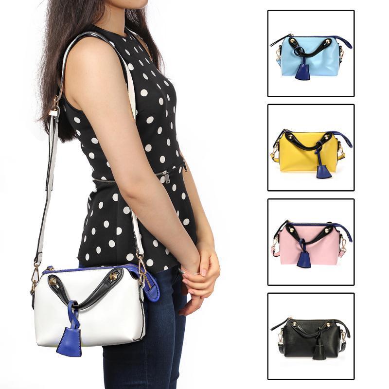 5 Colors Lady Women Handbag PU Leather Style Shoulder Bag Fashion Design - Mandy mall store